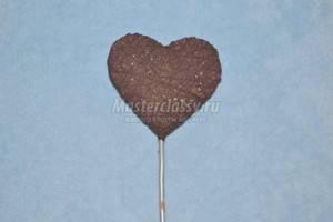 Топиарий из кофе и цветов в виде сердца с фото и видео